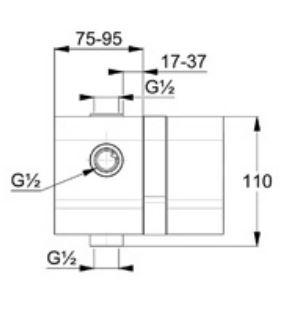 Kludi falsík alatti egység 38636 műszaki ábra