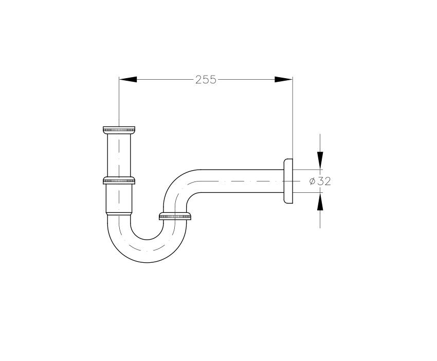 Mofém Mosdó szifon Csőszifon 165-0027-05 műszaki adatlap
