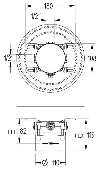 Mofém Multibox Falsík Alatti Csaptelep Test Egység 172-0001-00 műszaki adatlap