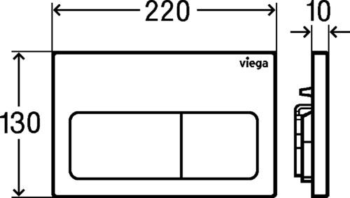 Viega Prevista Visign for Life 5 Nyomólap műanyag alpin-fehér (modellszám 8601.1) 773 731 műszaki adatlap