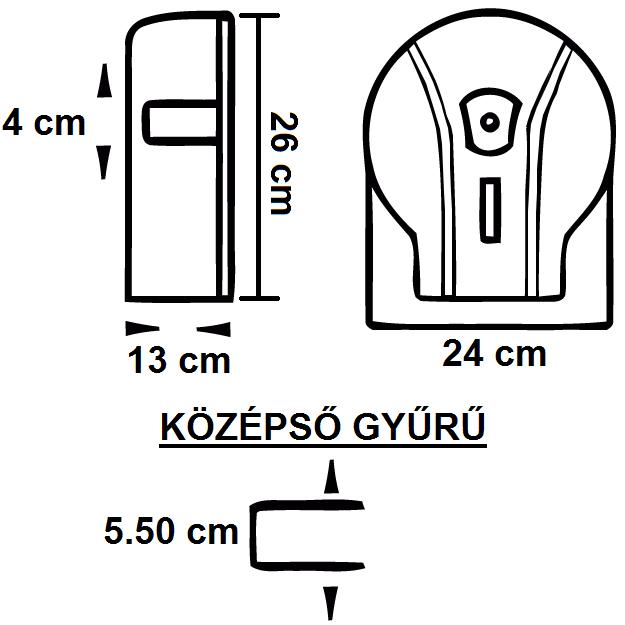 RAMI-5005 WC-Papír Adagoló Midi Jumbó tekercsekhez 210 mm-ig műszaki adatlap