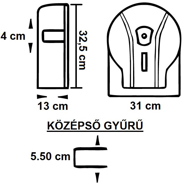 RAMI-5006 WC-Papír Adagoló Maxi Jumbó tekercsekhez 290 mm-ig műszaki adatlap
