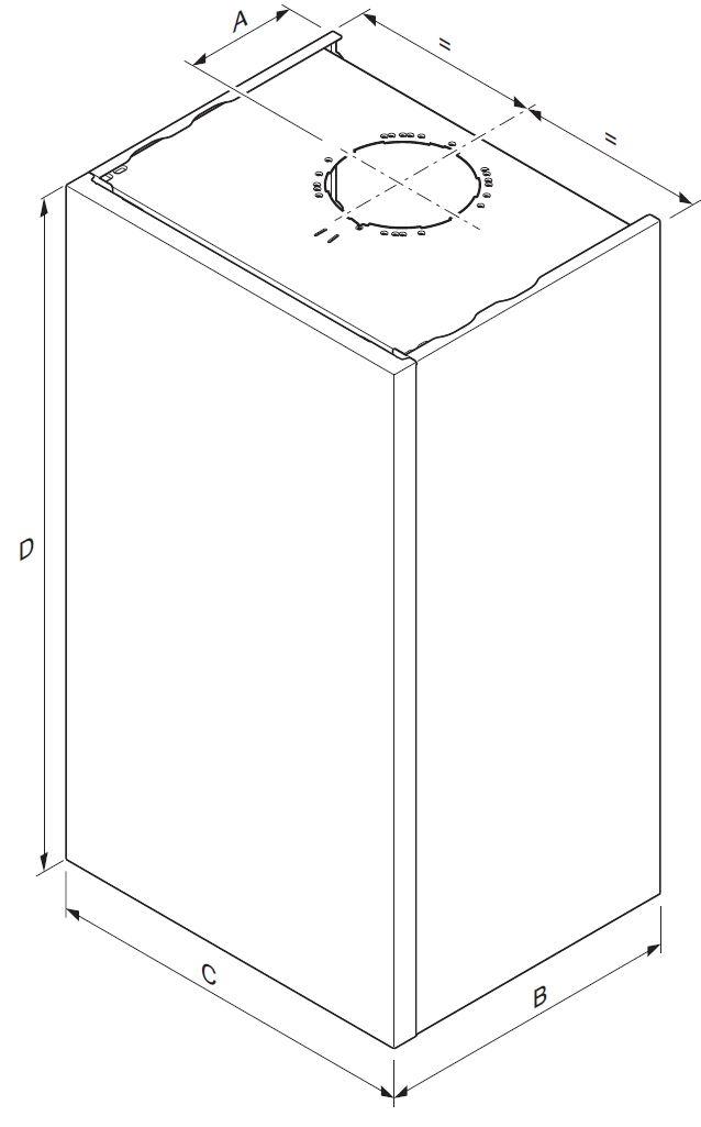 Saunier Duval Thema Condens AS 30-CS/1 (N-INT) Fali kondenzációs fűtő gázkazán műszaki ábra