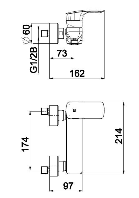 Herz Elite e40 Zuhany Csaptelep UH00485 műszaki adatlap