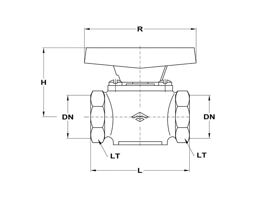 Mofém AHA gömbcsap 1 KB gáz 113-0038-00 műszaki adatlap