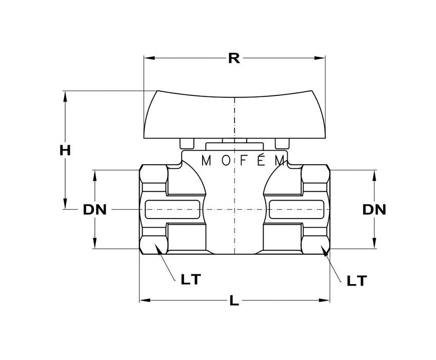 Mofém Flexum gömbcsap 3/4 BB gáz 113-0067-10 műszaki adatlap