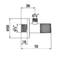 Kludi Sarokszelep G1/2 x G3/8 x átm.10 mm hagyományos felsőrésszel 1584605-00 műszaki adatlap