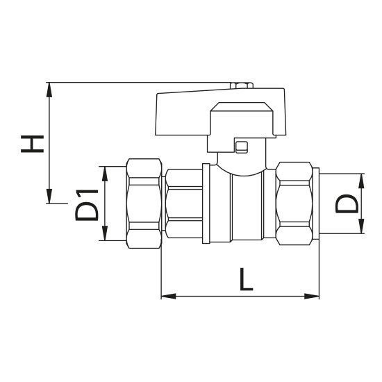 Bianchi golyóscsap 1/2' BM x 1/2' BM hollandival műszaki adatlap