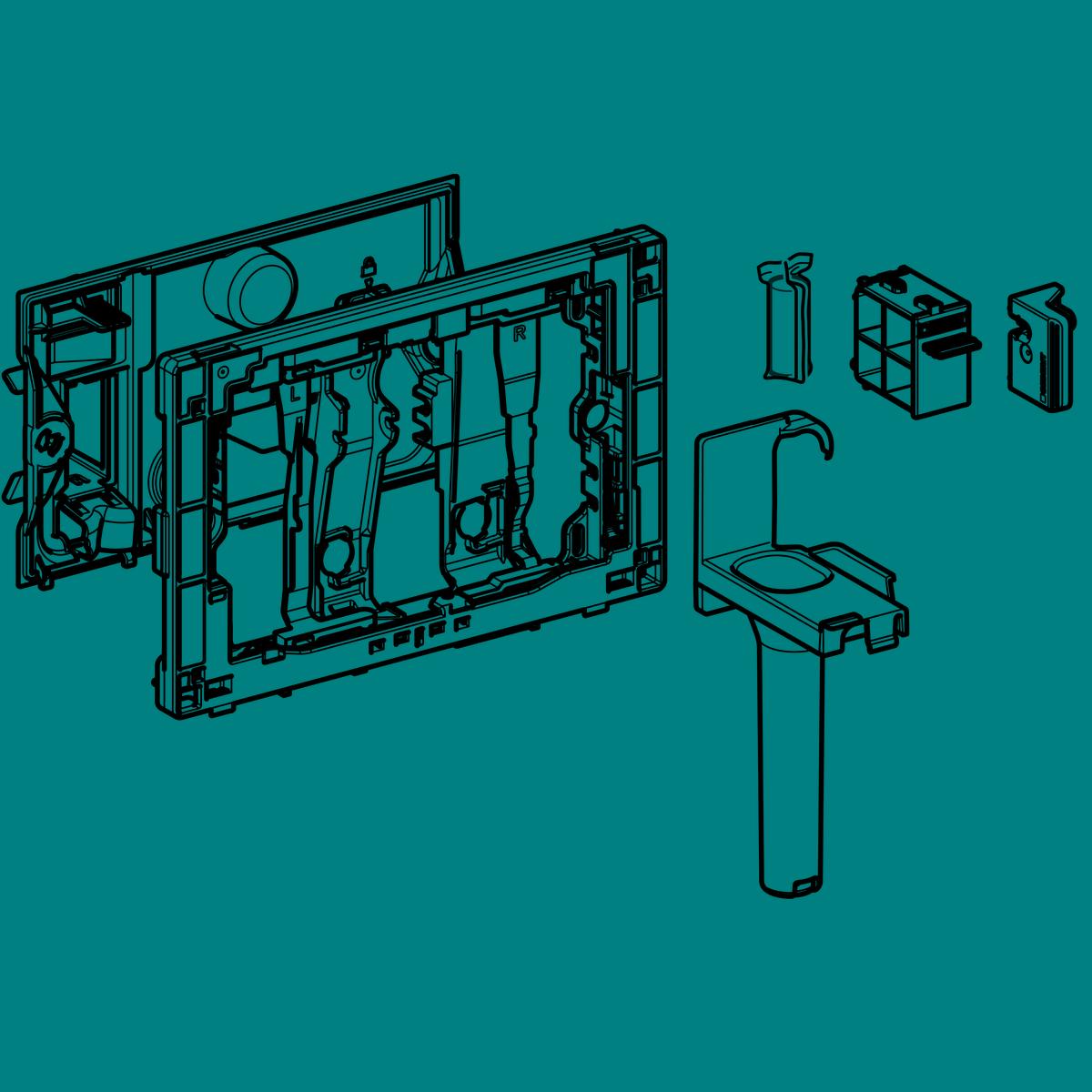 Geberit bedobónyílás DuoFresh vízkezelő tablettához, Sigma 12 cm falsík alatti öblítőtartályhoz 115.062.21.1 műszaki adatlap