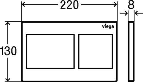 Viega Prevista Visign for Style 21 Nyomólap króm műanyag (modellszám 8611.1) 773 236 műszaki ábra