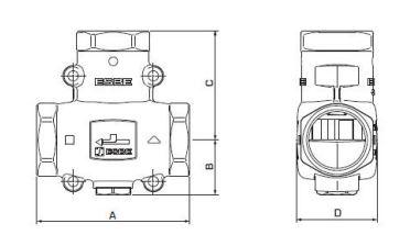 ESBE VTC 511 DN32-65 1' Keverőszelep KVS14 műszaki adatlap