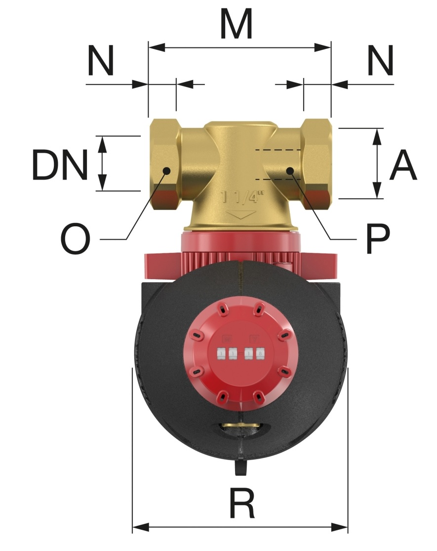 Flamco XStream Vent Légleválasztó 5/4 BM (11003) műszaki ábra
