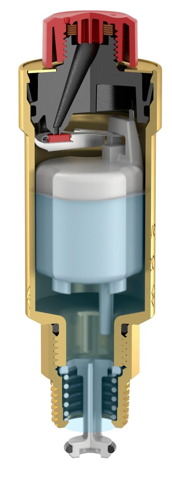Flamco Flexvent Automata légtelenítő nikkelezett (27742) robbantott ábra