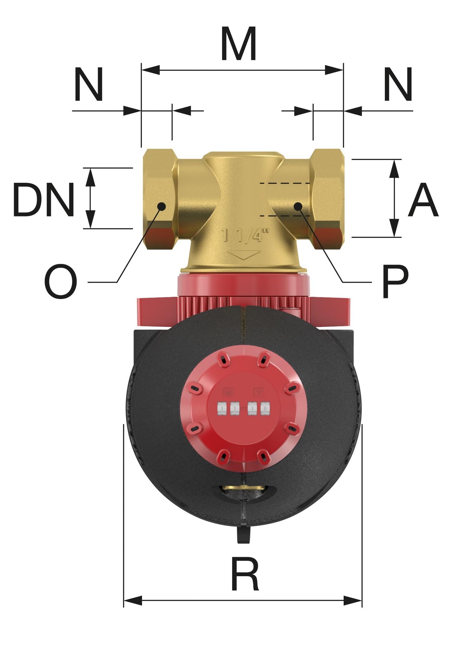 Flamco XStream Clean 6/4 F BM Mágneses iszapleválasztó belső menetes műszaki ábra