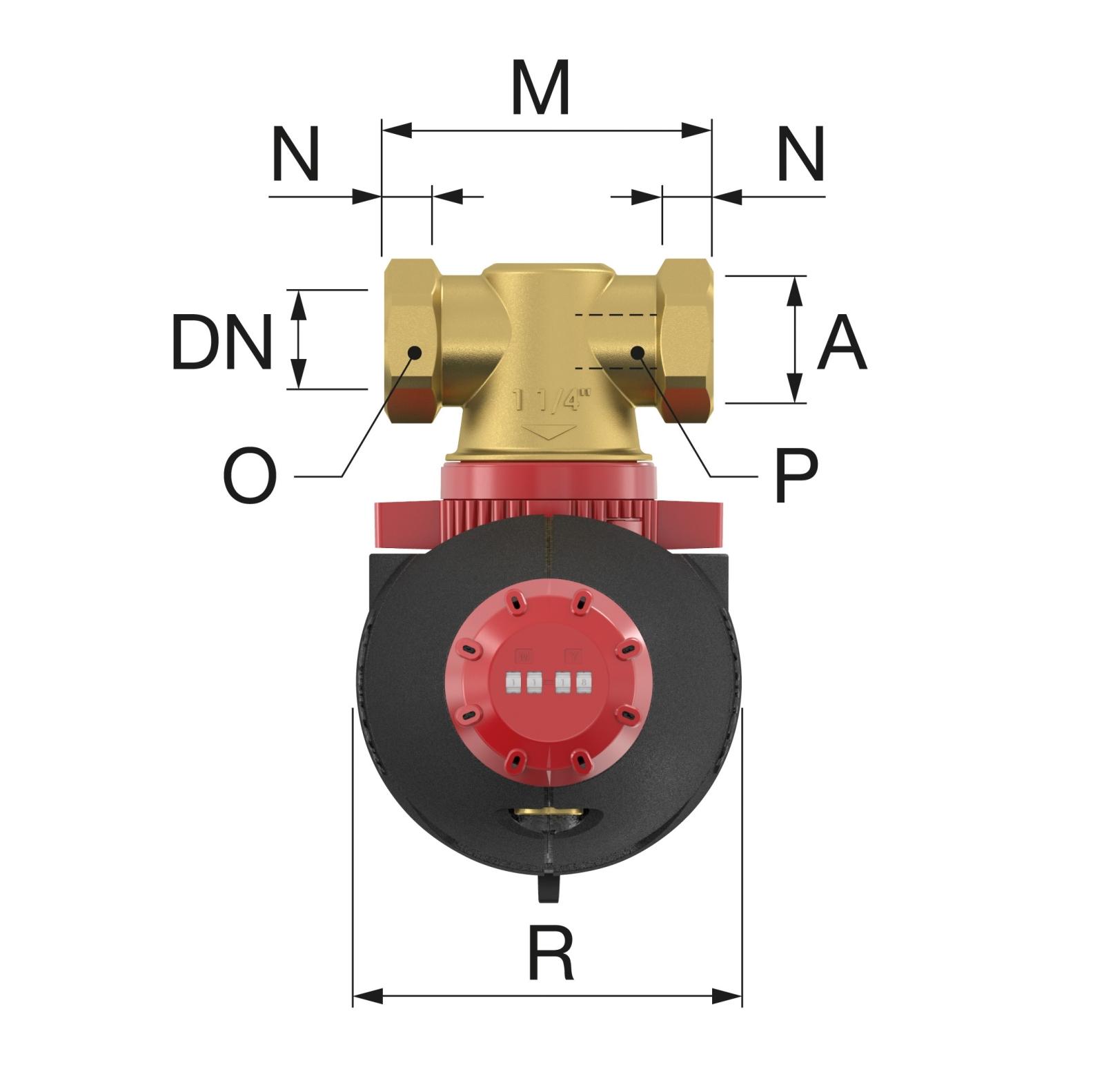 Flamco XStream Vent Légleválasztó 3/4 BM (11001) műszaki ábra