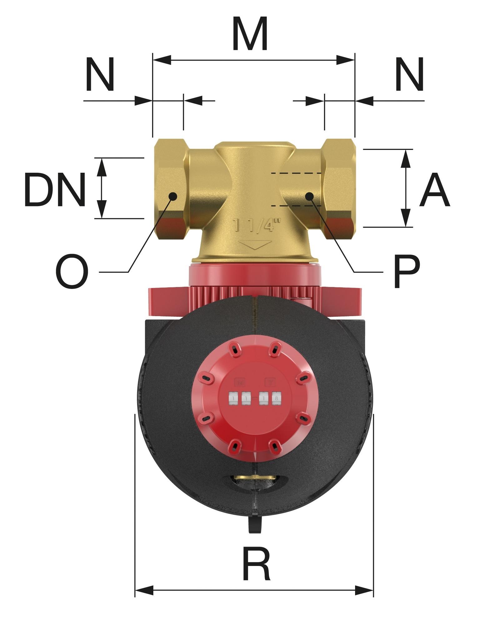 Flamco Xstream Vent-Clean Kombinált mágneses lég- és iszapleválasztó szigeteléssel 1 KM (11081) műszaki ábra