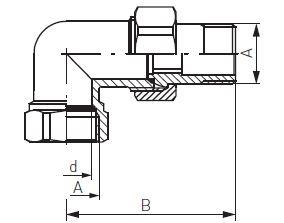 Ferro radiátor hollandi sarok KB 3/4' krómozott bevonattal és tömítéssel műszaki adatlap