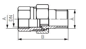 Ferro radiátor hollandi egyenes KB 3/4' krómozott bevonattal és tömítéssel műszaki adatlap