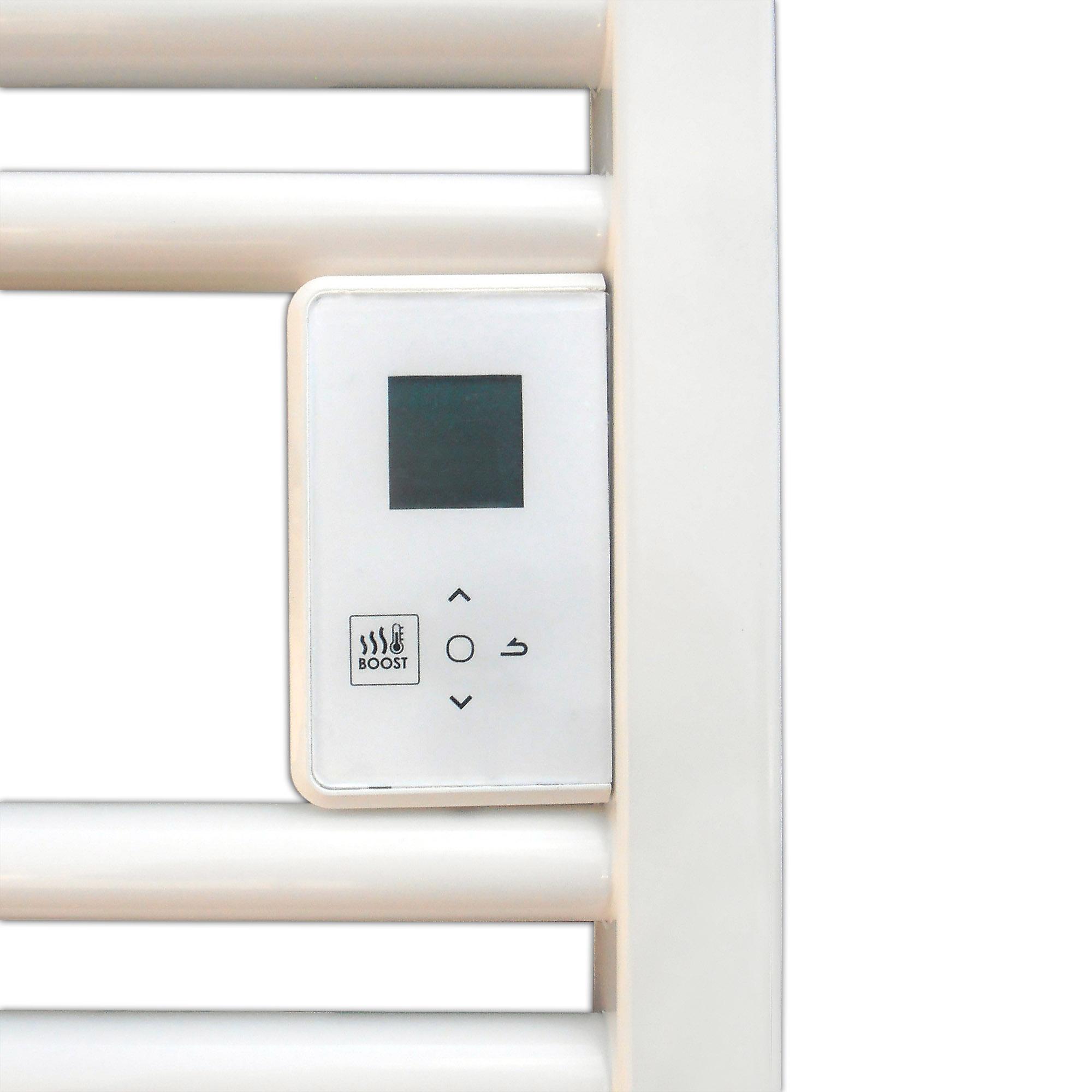Thermor Riva4 500 W Elektromos törölközőszárító radiátor LCD kijelzővel integrált programozhatósággal egyenes