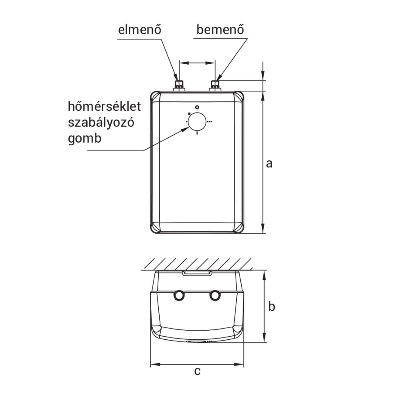 Hajdu FTA10 alsós elektromos vízmelegítő egykaros