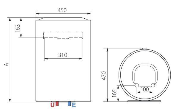 Ariston Lydos ECO 80 V 1,8K EU 80 Liter Villanybojler műszaki adatlap