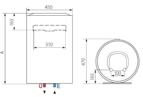 Ariston Lydos PLUS 50 V 1,8K EN EU 50 Liter Villanybojler műszaki adatlap