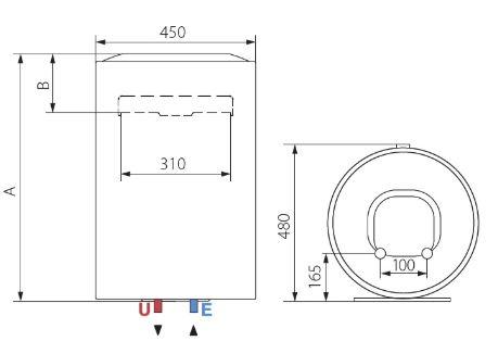 Ariston Lydos R 80 V 1,8K EU 80 Liter Villanybojler műszaki adatlap