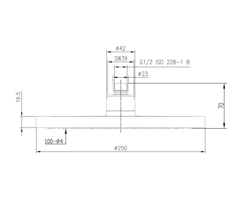 Mofém Evo X Zuhanyfej 175-0006-00 műszaki ábra