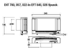 Aereco EFT 026 Növelt léghozamú falátvezetéses légbevezető 40m3/h (10 Pa), 80 m3/h (40 Pa) átm. 100 mm fehér műszaki adatlap