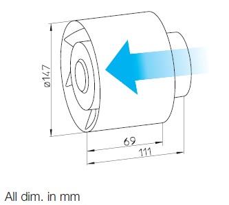 Helios REW 150/2 Csőbe dugható ventilátor (H0000440) műszaki adatlap