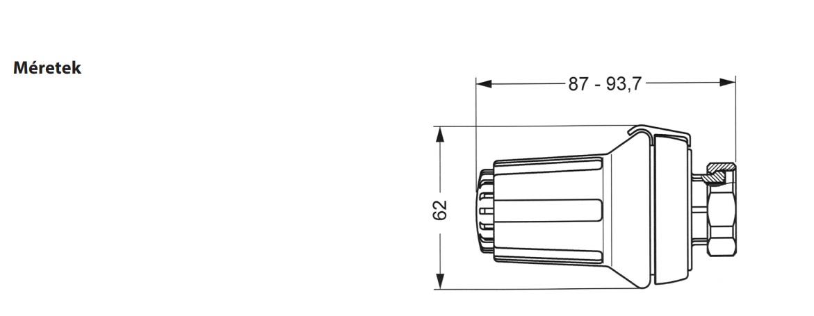 Danfoss RA-FN Termosztatikus radiátor szelep sarok 1/2' műszaki adatlap