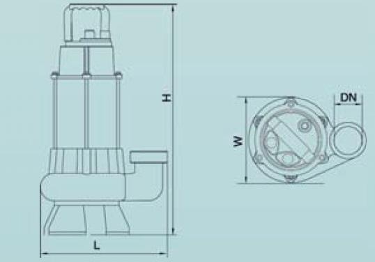 Leo XSP 18-12/0.75l Merülő szivattyú enyhén szennyezett vízre öntvény szivattyúházzal műszaki adatlap